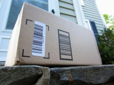 Another Amazon Prime box has arrived. It's become a regular care package to keep the gears at home moving. Joy.