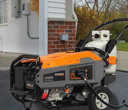 The Brand New Generac LP5500 Propane Powered Portable Generator
