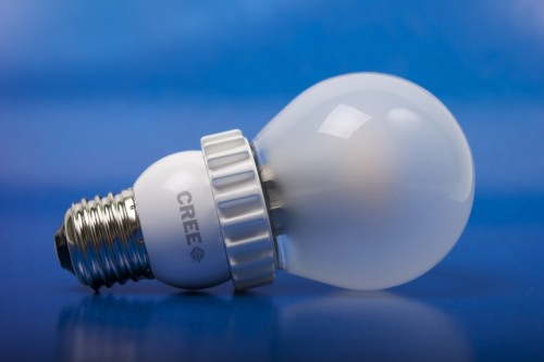 Cree LED Bulb with blue background