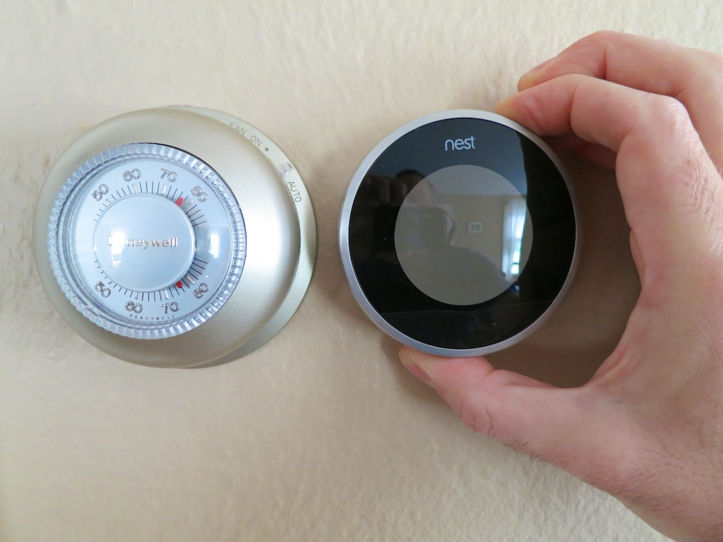 happily married to my newly installed nest thermostat at home with tech. Black Bedroom Furniture Sets. Home Design Ideas