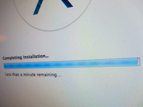 """Less than a minute remaining"" is the most excruciating message ever invented by software developers.  I think the phrase actually makes time slow down. In this moment, your Mavericks OS X upgrade is so close… yet still so far away.  Here are three recommended steps to help you get your computer to the finish line…"