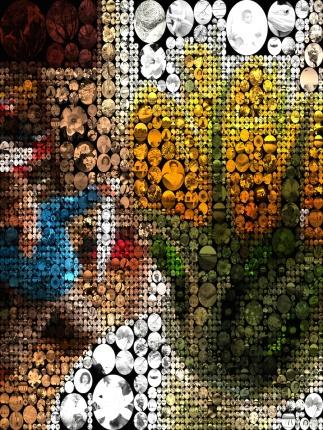 Tulips Spark Creation Photo Mosaic 3