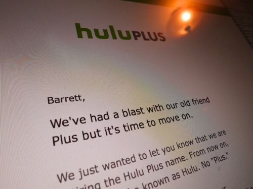 Pop Quiz: Do you know the difference between Hulu and Hulu Plus?  Well, it really doesn't matter any more…