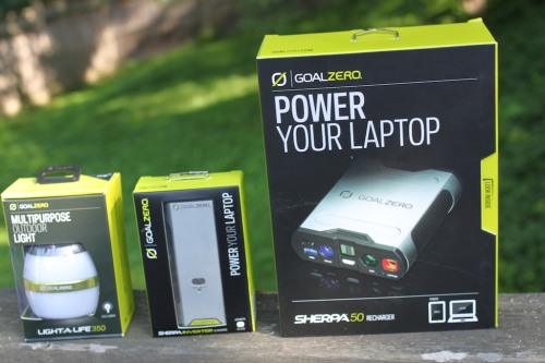 When going away on a camping trip, don't forget to pack some portable power. Otherwise, your tech will quickly go dark…