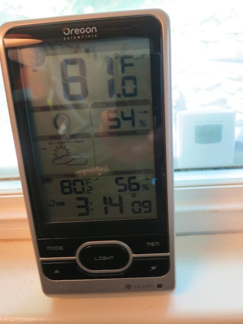 Are summer humidity levels getting you down and creating less than ideal sleeping conditions for your family?  Knowing when to crank up the air conditioning at night can make all the difference, and a good indoor/outdoor home weather station can really help…