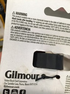 Gilmour Warning Message