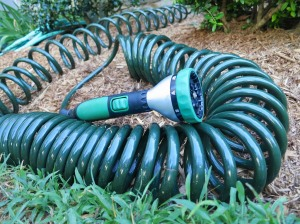 Water Right Coiled Hose and Scotts Sprayer