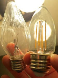 Incandescent F15 Vs B11 Filament LED
