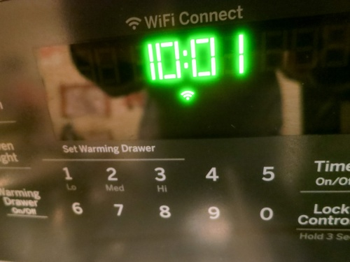 Behold, an oven that has Wi-Fi baked in! I must admit, I was excited and a tad scared to see the Wi-Fi icon pop onto my new GE range's control pad. But it took a little work for my range to join the Internet of Things…