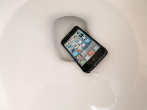 Do you worry about dropping your smartphone in the toilet? You should if you often practice a one-handed grip. If you're also using a stick-on ring for total security, you may want to rethink your plan…
