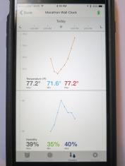 Marathon iOS App Tracking Temperature