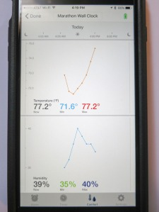 Marathon iOS App Tracking Temperature