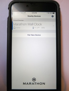 Marathon iOS Clock System App