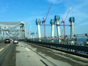 The New NY Bridge Going Up