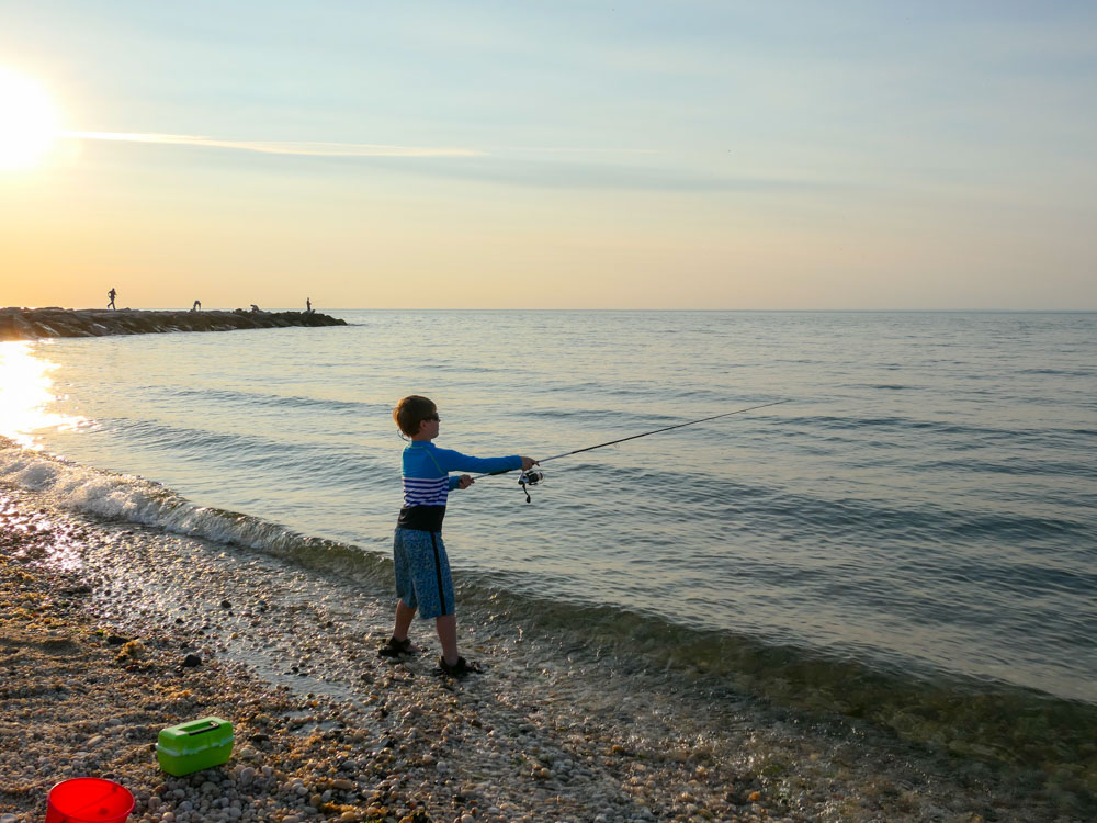 Fishing For Snappers On Long Island