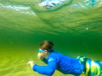 Underwater Action GoPro Shot